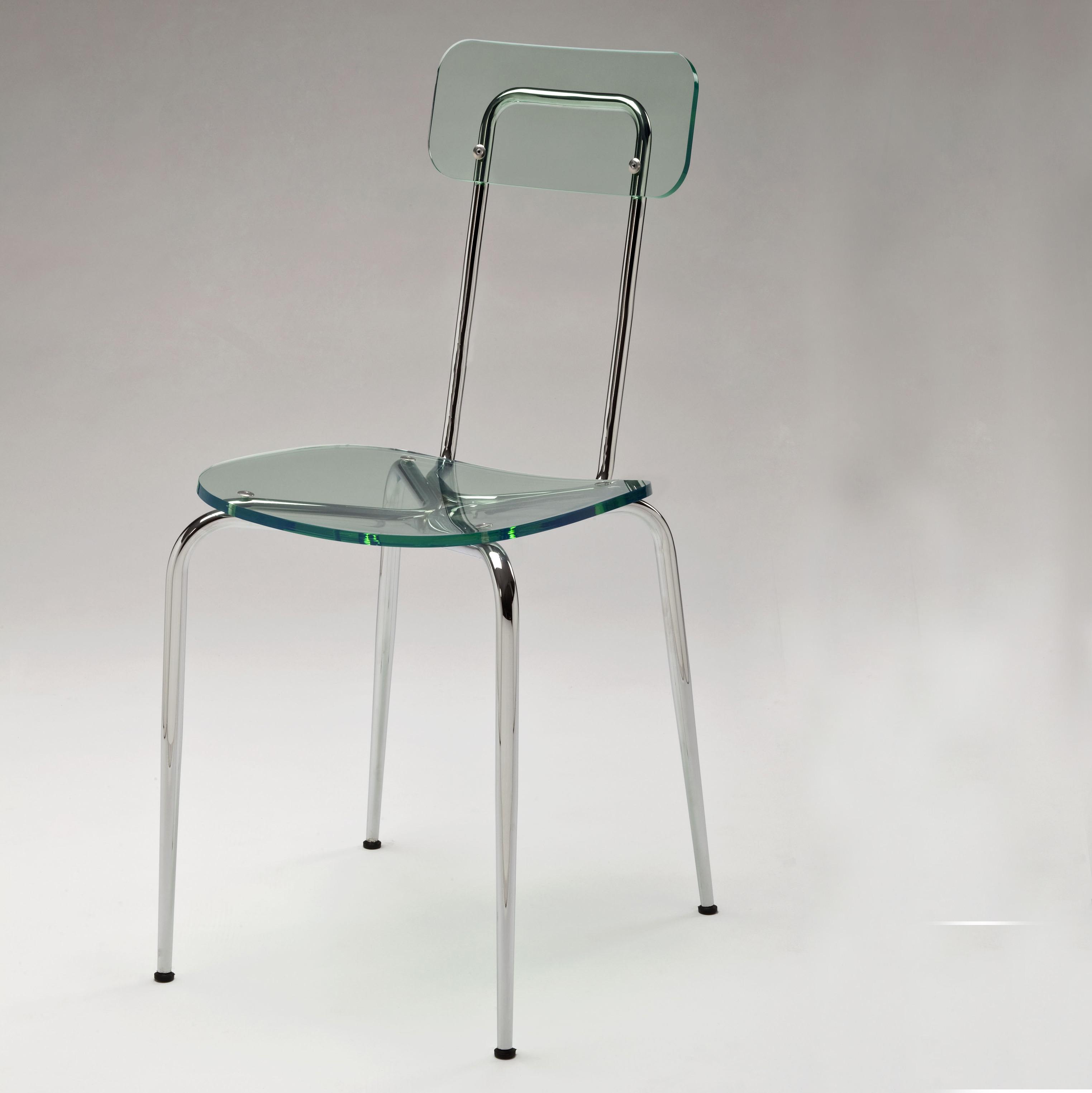 Sedia di design in metacrilato e metallo italian 39 s 50 for Sedia anni 50 design